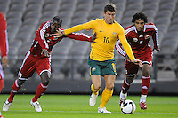 MELBOURNE, AUSTRALIA - OCTOBER 14: Harry Kewell from Australia evades opponents in a AFC Asian Cup 2011 match between Australia and Oman at Etihad Stadium on October 14, 2009 in Melbourne, Australia. Photo Sydney Low www.syd-low.com