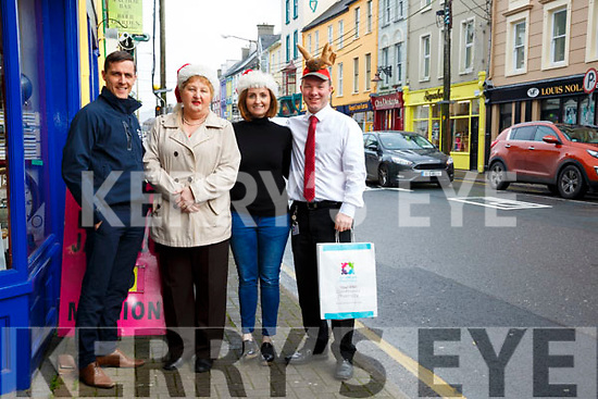 Cahersiveen traders getting ready for the Christmas trade, pictured l-r; Declan Sugrue, Mary Sheehan(Chairperson), Deirdre Garvey & Shane O'Neill.