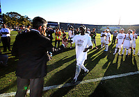 Kofi Sarkodie #8 of the University of Akron after the 2010 College Cup final against the University of Louisville at Harder Stadium, on December 12 2010, in Santa Barbara, California.Akron champions, 1-0.