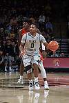 Brandon Childress (0) of the Wake Forest Demon Deacons on offense during first half action against the Virginia Tech Hokies at the LJVM Coliseum on January 10, 2018 in Winston-Salem, North Carolina.  The Hokies defeated the Demon Deacons 83-75.  (Brian Westerholt/Sports On Film)