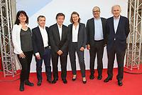 JOHANNE LARUE, ALAIN WEILL, GILLES PELISSON, ANNE DURUPTY, DAVID KESSLER, THOMAS VALENTIN - 19EME FESTIVAL DE LA FICTION TV DE LA ROCHELLE, FRANCE, LE 15/09/2017.