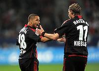 FUSSBALL   1. BUNDESLIGA  SAISON 2011/2012   5. Spieltag FC Augsburg - Bayer 04 Leverkusen           09.09.2011 Jubel nach dem Tor Sidney Sam , Stefan Kiessling (v. li., Bayer 04 Leverkusen)