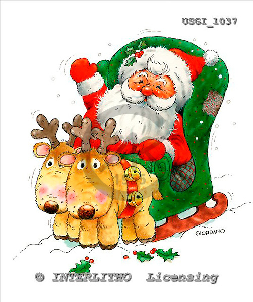 GIORDANO, CHRISTMAS SANTA, SNOWMAN, WEIHNACHTSMÄNNER, SCHNEEMÄNNER, PAPÁ NOEL, MUÑECOS DE NIEVE, paintings+++++,USGI1037,#X# stickers