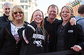 Ross Mauermann's family. - The teams walked the red carpet through the Fan Fest outside TD Garden prior to the Frozen Four final on Saturday, April 11, 2015, in Boston, Massachusetts.