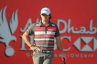 Rory McIlroy (NIR) in action on the 18th hole during Sunday's Final Round of the HSBC Golf Championship at the Abu Dhabi Golf Club, United Arab Emirates, 29th January 2012 (Photo Eoin Clarke/www.golffile.ie)