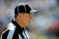 Sep. 20, 2009; San Diego, CA, USA; NFL referee (5) John McGrath during the game between the San Diego Chargers against the Baltimore Ravens at Qualcomm Stadium in San Diego. Baltimore defeated San Diego 31-26. Mandatory Credit: Mark J. Rebilas-