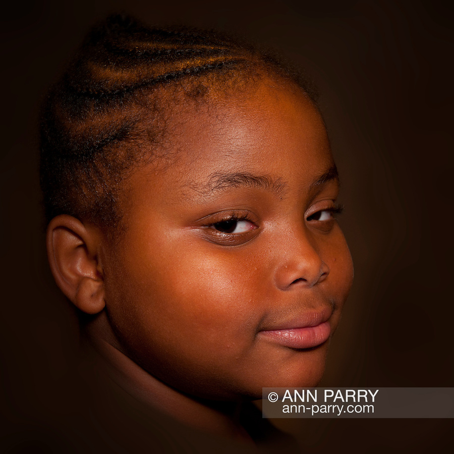 Portrait of young girl taken during Family Portrait Day at African American Museum of Nassau County, Hempstead, New York, on September 17, 2011. (EDITORIAL USE ONLY)