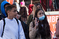 NEW YORK, NEW YORK - MARCH 4: A woman wears a face mask as people visit Times Square on March 4, 2020 in New York City. The coronavirus cases in New York has been doubled to 22. Eight new victims testing positive state wide Gov. Cuomo announced Thursday.. (Photo by Pablo Monsalve / VIEWpress)