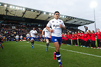 Ben Tapuai and the rest of the Bath Rugby team run onto the field. Aviva Premiership match, between Exeter Chiefs and Bath Rugby on December 2, 2017 at Sandy Park in Exeter, England. Photo by: Patrick Khachfe / Onside Images
