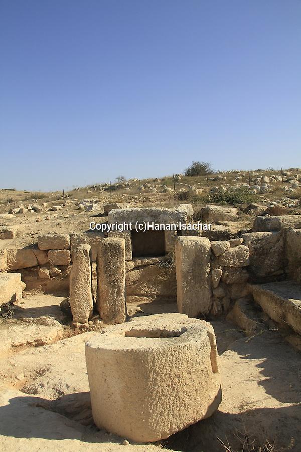 Israel, Shephelah, a ancient Olive press in Beth Loya