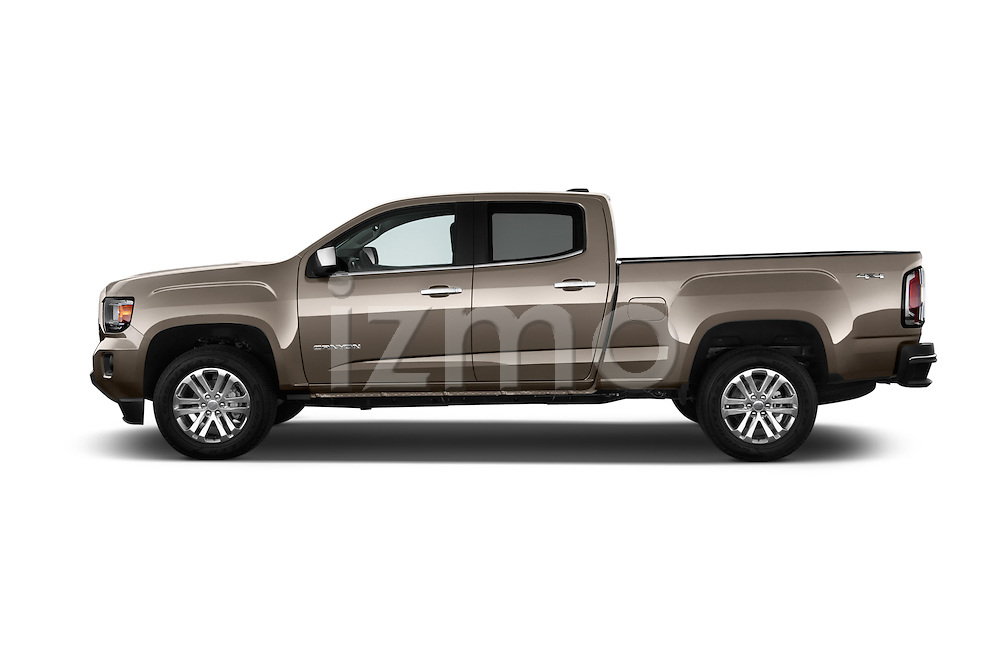 Car Driver side profile view of a 2015 GMC Canyon Slt 4 Door Pickup 2WD Side View