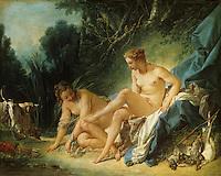 Francois Boucher 1703-1770.  Diane sortant du bain. Louvre.  Reference only.
