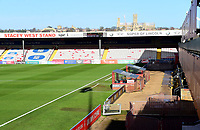 A general view of Sincil Bank, home of Lincoln City FC<br /> <br /> Photographer Andrew Vaughan/CameraSport<br /> <br /> Emirates FA Cup First Round - Lincoln City v Northampton Town - Saturday 10th November 2018 - Sincil Bank - Lincoln<br />  <br /> World Copyright © 2018 CameraSport. All rights reserved. 43 Linden Ave. Countesthorpe. Leicester. England. LE8 5PG - Tel: +44 (0) 116 277 4147 - admin@camerasport.com - www.camerasport.com