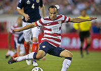 May 26, 2012:   USA Men's National Team f Landon Donovan (10) scores a goal during action between the USA and Scotland at EverBank Field in Jacksonville, Florida.  USA defeated Scotland 5-1.............