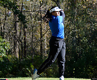 Cambridge's Mary Hommen tees off on No. 10 during the Wisconsin WIAA state girls high school golf tournament on Monday, 10/14/19 at University Ridge Golf Course
