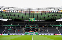 04.07.2020, Fussball DFB Pokal Finale, Bayer 04 Leverkusen - FC Bayern Muenchen emspor, v.l. Innenansicht Olympiastadion<br /> <br /> Foto: Kevin Voigt/Jan Huebner/Pool/Marc Schueler/Sportpics.de<br /> <br /> (DFL/DFB REGULATIONS PROHIBIT ANY USE OF PHOTOGRAPHS as IMAGE SEQUENCES and/or QUASI-VIDEO - Editorial Use ONLY, National and International News Agencies OUT)