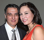 Backstage with Robert Cuccioli and Linda Eder after performing in 'A New Life' at The Town Hall on October 13, 2012 in New York City.