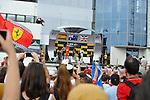 Podium - Fernando Alonso (ESP),  Scuderia Ferrari - Daniel Ricciardo (AUS)  Red Bull Racing - Lewis Hamilton (GBR), Mercedes GP<br />  Foto © nph / Mathis