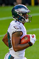 Philadelphia Eagles wide receiver Shelton Gibson (18) during a preseason football game against the Green Bay Packers on August 10, 2017 at Lambeau Field in Green Bay, Wisconsin. Green Bay defeated Philadelphia 24-9.  (Brad Krause/Krause Sports Photography)