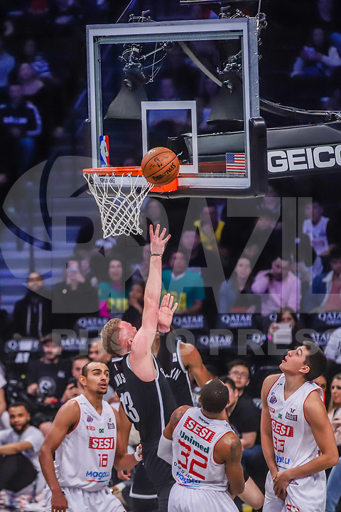 NOVA YORK, EUA, 04.10.2019 - BROOKLYN NETS-FRANCA - Partida entre Franca e Brooklyn Nets valido pela pre temporada da NBA no Barclays Center em Nova York, nesta sexta-feira, 04. (Foto: Vanessa Carvalho/Brazil Photo Press)