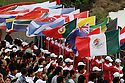 Nations flags prior to the closing ceremony after the final round of the Omega Mission Hills World Cup played at The Blackstone Course, Mission Hills Golf Club on November 27th in Haikou, Hainan Island, China.( Picture Credit / Phil Inglis )