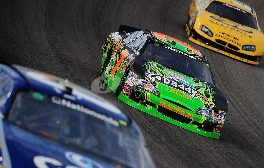 Nov. 20, 2010; Homestead, FL, USA; NASCAR Nationwide Series driver Danica Patrick (7) during the Ford 300 at Homestead Miami Speedway. Mandatory Credit: Mark J. Rebilas-