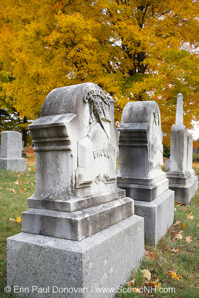 Prospect Cemetery in Epping, New Hampshire USA during the autumn months
