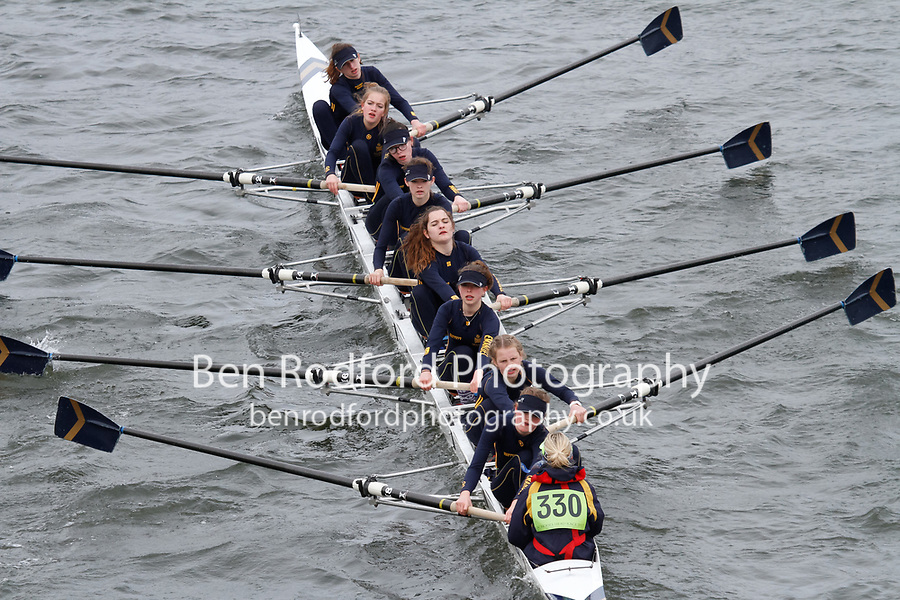 Crew: 330  Emanuel Sch  Event: Girls J15 CHAMP eights<br /> <br /> Schools' Head of the River 2017<br /> <br /> To purchase this photo, or to see pricing information for Prints and Downloads, click the blue 'Add to Cart' button at the top-right of the page.