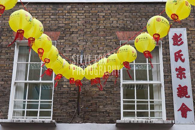 Decorative Lanterns, Lisle Street, Chinese New Year 2011, London, England