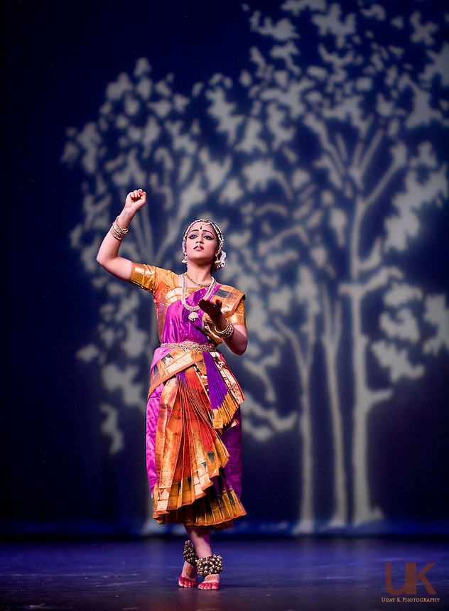 Anjali performing her Arangetram at the Irving Arts Center in Irving, Texas