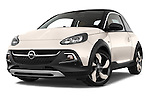 Stock pictures of low aggressive front three quarter view of a 2015 Opel Adam Rocks 3 Door Hatchback