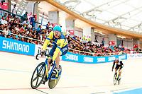 Picture by Alex Whitehead/SWpix.com - 10/12/2017 - Cycling - UCI Track Cycling World Cup Santiago - Velódromo de Peñalolén, Santiago, Chile - Andrii Vynokurov wins Bronze in the Men's Sprint.
