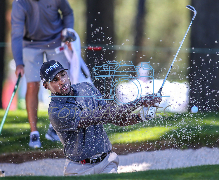 Patrick Peterson, with the Arizona Cardinals, plays in an American Century Championship practice round at Edgewood Tahoe Golf Course in Stateline, Nev., on Wednesday, July 15, 2015. <br /> Photo by Cathleen Allison
