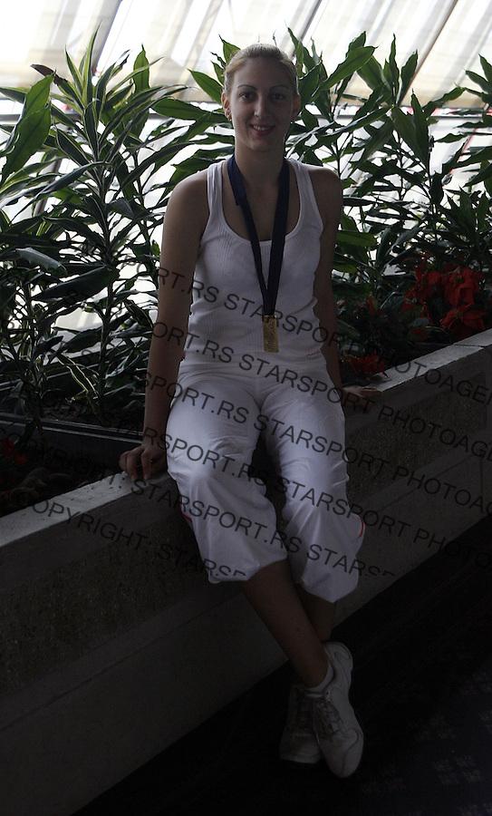 Zenska kosarkaska reprezentacija, Evropske Sampionke do 18 godina u Novom Sadu.Jelena Milovanovic, MVP prvenstva.Beograd, 10.07.2007..foto: Srdjan Stevanovic