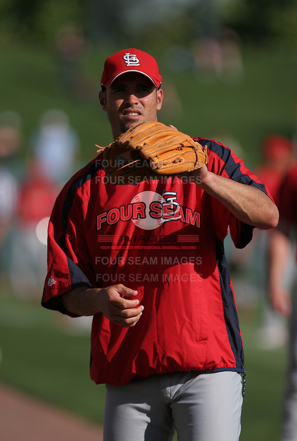 Eli Marrero of the St. Louis Cardinals vs. the Atlanta Braves March 16th, 2007 at Champion Stadium in Orlando, FL during Spring Training action.  Photo By Mike Janes/Four Seam Images