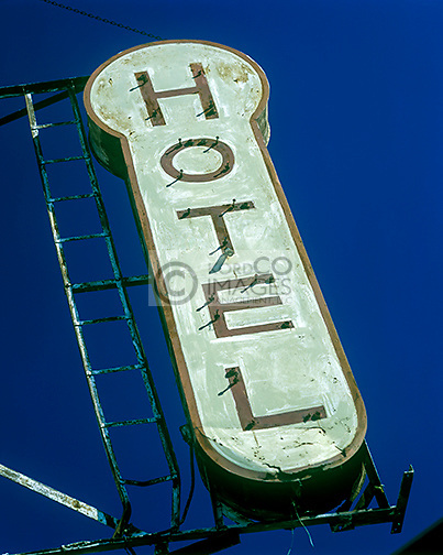 RUSTED OLD HOTEL SIGN KELLER HOTEL GREENWICH VILLAGE MANHATTAN NEW YORK CITY USA