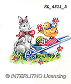 EASTER, OSTERN, PASCUA, paintings+++++,KL4511/3,#e#, EVERYDAY ,rabbits