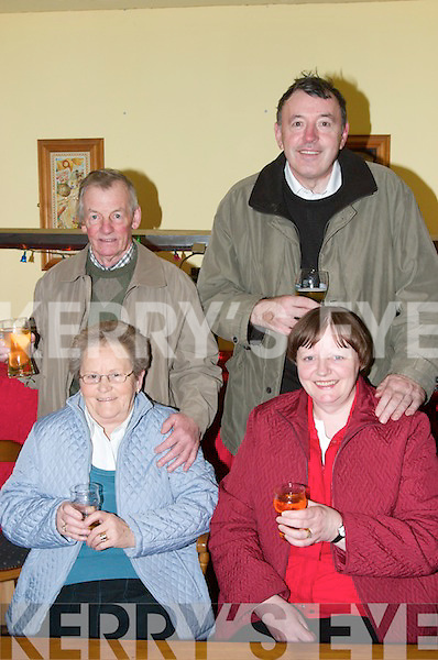 BALL: Enjoying the New Years Eve Ball in The Golf Hotel, Ballybunion on New Years Eve were Teresa and Michael Mulvihill (Lisselton) and Eileen and Pat Guiney, Listowel..