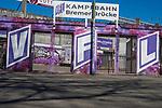 22.03.2020, Stadion an der Bremer Brücke, Osnabrück, Rund um das Stadion an der Bremer Brücke<br /> <br /> <br /> im Bild<br />  Eingang vor der Ostkurve. Feature / Symbol / Symbolfoto / charakteristisch / Detail<br /> <br /> Foto © nordphoto / Paetzel