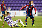 Real Valladolid's Andre Leao (l) and Levante UD's Jefferson Lerma during La Liga Second Division match. March 11,2017. (ALTERPHOTOS/Acero)
