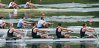 Lucerne, SWITZERLAND<br /> <br /> NZL M4- appoaching the finishing line.2016 European Olympic Qualifying Regatta, Lake Rotsee.<br /> <br /> Monday  23/05/2016<br /> <br /> [Mandatory Credit; Peter SPURRIER/Intersport-images]
