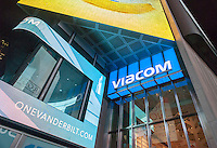 Viacom headquarters in Times Square in New York on Tuesday, December 13, 2016. The proposed merger of Viacom and CBS has been called off. The plan to merge the two companies only reached initial talks and was called off by Viacom. (© Richard B. Levine)