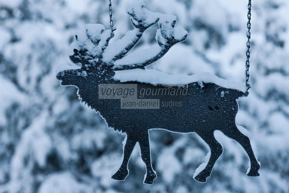 Europe/Finlande/Laponie/Levi: A la ferme de rennes: Sammuntupa _ Enseigne
