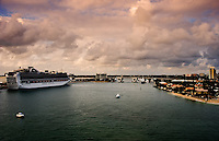 A cruise ship in the port of Fort Lauderdale, Florida on Feb. 4, 2012