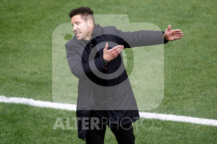 Atletico de Madrid's coach Diego Pablo Cholo Simeone during La Liga match. April 4,2017. (ALTERPHOTOS/Acero)