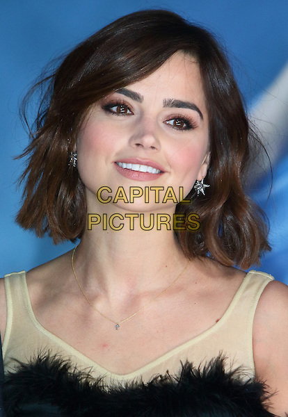 LONDON, ENGLAND - MARCH 19: Jenna Coleman attends the UK Premiere of 'Cinderella' at Odeon Leicester Square on March 19, 2015 in London, England<br /> CAP/ROS<br /> &copy;Steve Ross/Capital Pictures