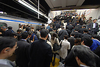 Shinjuku station, one of the busiest stations in the world. Tokyo has one of the most extensive and efficient transport networks in the world - but also one of the most crowded. Rail companies calculate crowding by percent of standard capacity (ie when all the seats and standing spaces are occupied). Some trains reach 220%+.