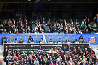 A general view of the coaches' box. The Clash, Aviva Premiership match, between Bath Rugby and Leicester Tigers on April 7, 2018 at Twickenham Stadium in London, England. Photo by: Patrick Khachfe / Onside Images