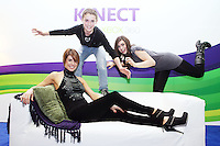 """11/10/2010. GILLIAN QUINN LAUNCHES XBOX KINECT. Gillian Quinn, her daughter Aisling and son Mikey were on hand today to launch the Kinect experiential centre on Grafton Street and got an exclusive preview of Kinect for Xbox 360 ahead of its launch on 10thNovember. The doors of the Kinect experiential centre will officially open on Tuesday 12thOctober at midday and the public will be able to enjoy fun new games such as """"Kinect Sports,"""" """"Kinectimals,"""" """"Kinect Joy Ride"""" and """"Kinect Adventures"""" and MTV Games' and Harmonix's """"Dance Central."""" The Kinect experiential centre will be open from now until Sunday 31stOctober.Kinect for Xbox 360 makes it possible to play in a whole new way by identifying your movement and body position to create a truly immersive entertainment experience. See a ball? Just kick it. Browse through a menu with the wave of a hand.Picture James Horan/Collins Photos"""