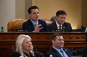United States Representative Matt Gaetz (Republican of Florida) speaks during the United States House Committee on the Judiciary hearing with constitutional law experts Noah Feldman, of Harvard University, Pamela Karlan, of Stanford University, Michael Gerhardt, of the University of North Carolina, and Jonathan Turley of The George Washington University Law School on Capitol Hill in Washington D.C., U.S. on Wednesday, December 4, 2019.<br /> <br /> Credit: Stefani Reynolds / CNP